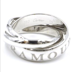 """Cartier vintage """"or amour et trinity"""" ring."""